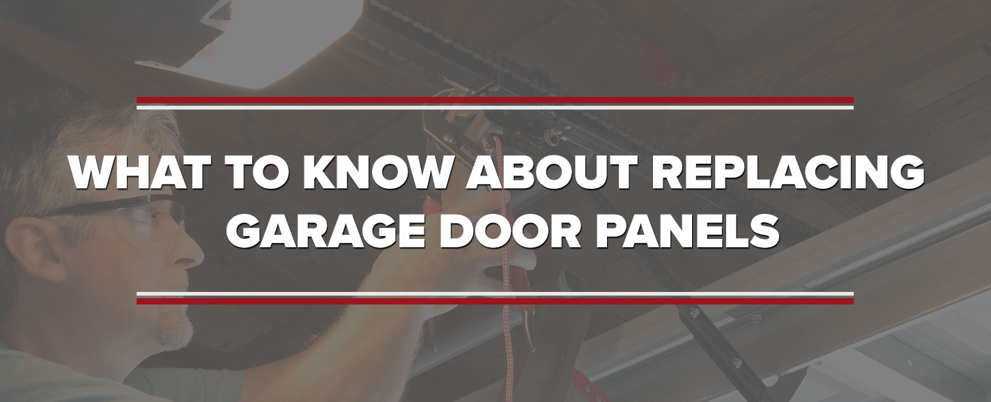 What to Know About Replacing Garage Door Panels